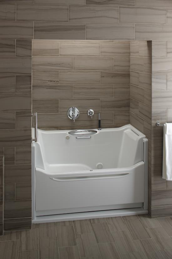 Elevance Rising Wall Bathtub By Kohler
