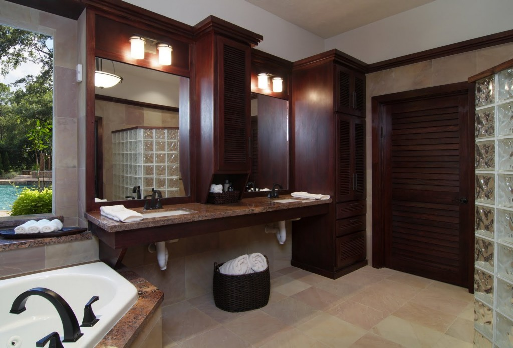 Accessible Bathroom with Masculine LuxuryUniversal Design Style – Accessible Bathroom