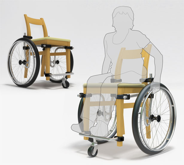 Turn A Normal Chair Into Wheelchair With Wheel