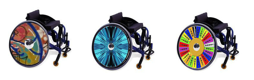 Personalize Your Wheelchair with CoolHubcapsUniversal Design Style – Wheel Chair Covers