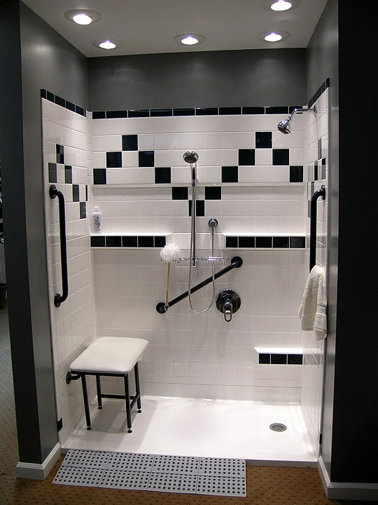 Accessible showers by best bathuniversal design style - Walk in showers for small spaces property ...