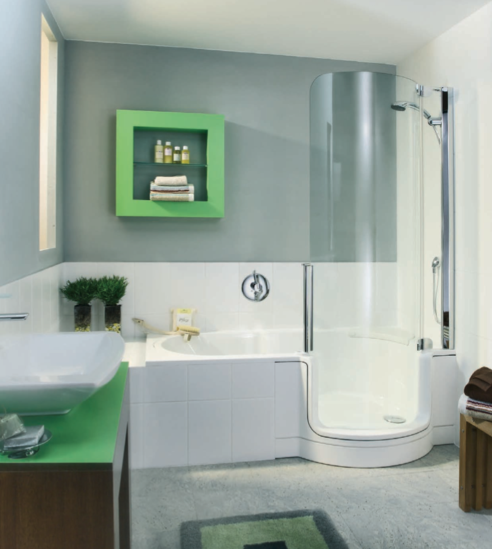 Twin Line | Walk In Bathtub and Shower Combo