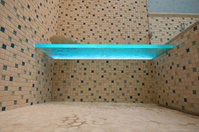 Roll-in Shower With Lighted Shower Bench