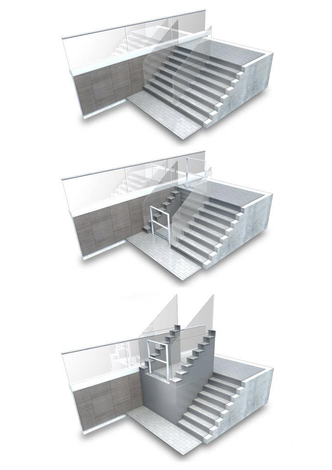 Sesame Retractable Stairs to Platform Lift