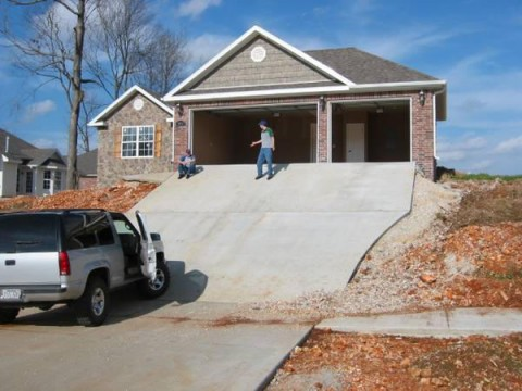 Bad design style case 54 for Sloped driveway options