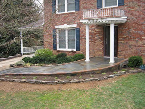 Stone Wheelchair Ramp By Schaffer Constructionuniversal