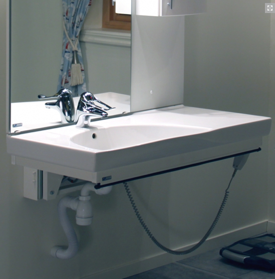 Electronic Height Adjustable Bathroom Sink