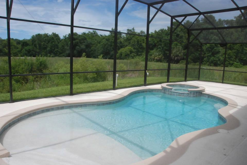 Wheelchair accessible vacation rental near disney world for Pool design requirements