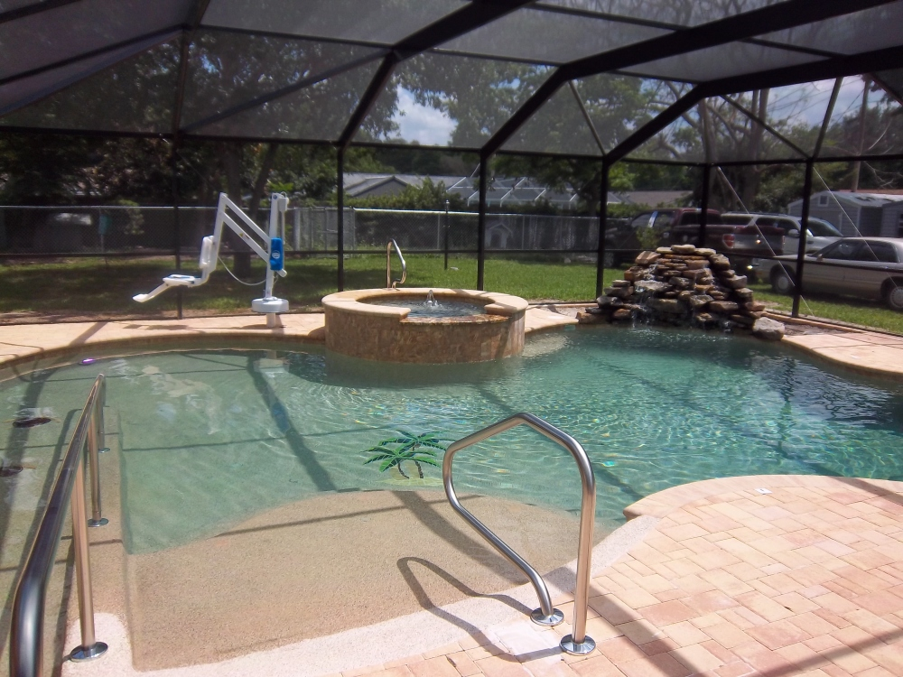 Tropical Pools And Pavers Wheelchair Accessible Swimming Pool