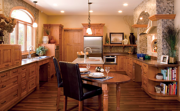 Wheelchair Accessible Kitchen by Sawhill Kitchens