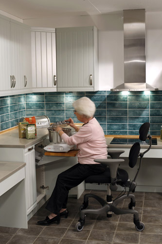 kitchen design for the elderly unilift lower cabinet lift 604
