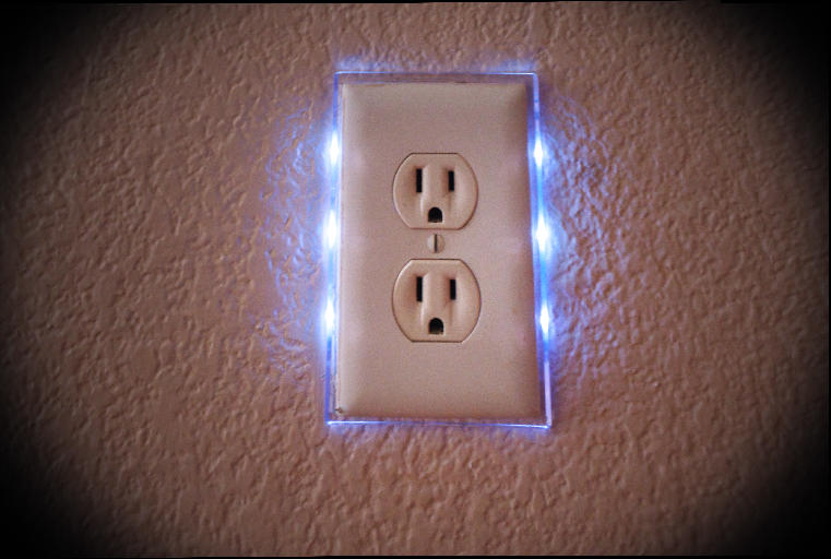 Lighted Wall Outlet Cover Plate Dusmun
