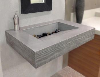 Roll Under Sinks By Trueform Concrete